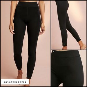 Anthropologie Classic Black Leggings S/M New NWT